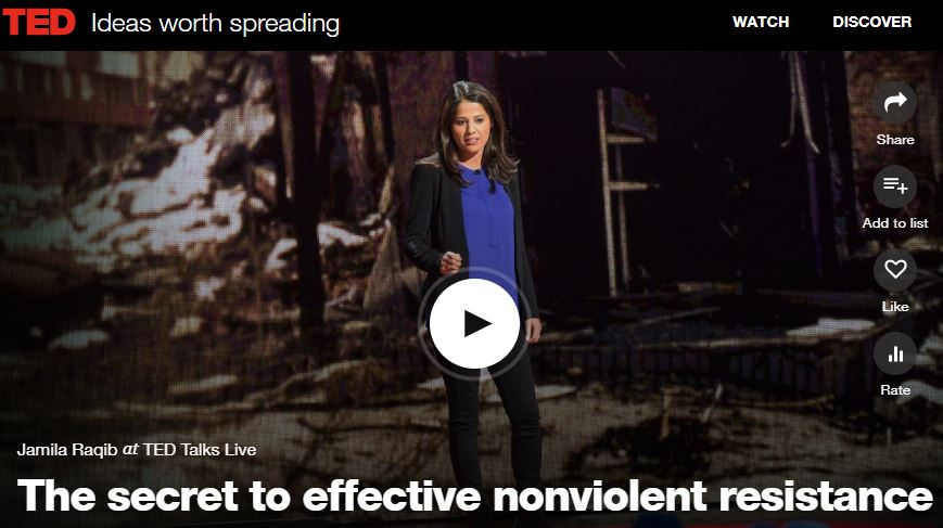 Jamila speaking at Ted Talks: War and Peace